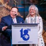 Dr. Miriam & Sheldon Adelson accepting their award at Birthright Israel Foundation 18th Anniversary Gala