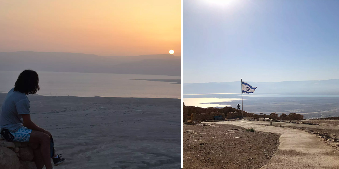 Incredible views from Masada on Birthright Israel in 2018