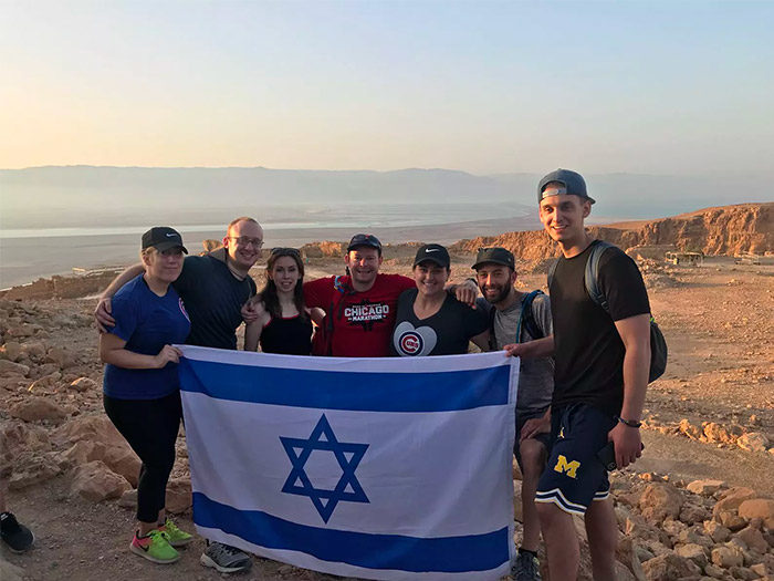 Sunrise on Masada in 2018