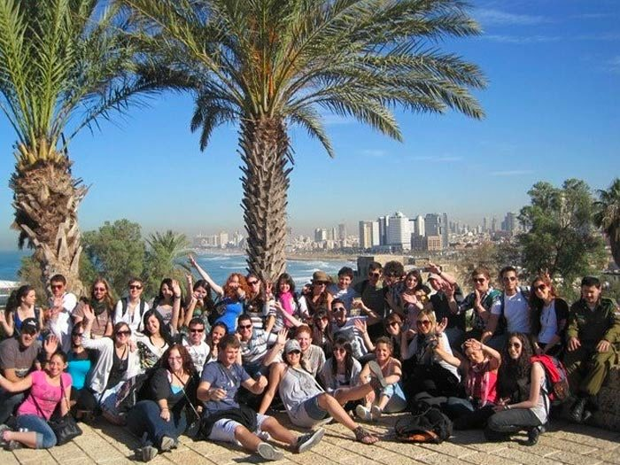 Aliaksandra Sukharuchkin's Birthright Israel group in 2010