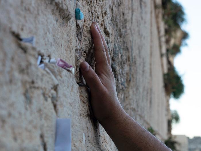 Praying at the Kotel in Jerusalem