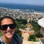 Rebecca Cohn in the Hanging Gardens of Haifa