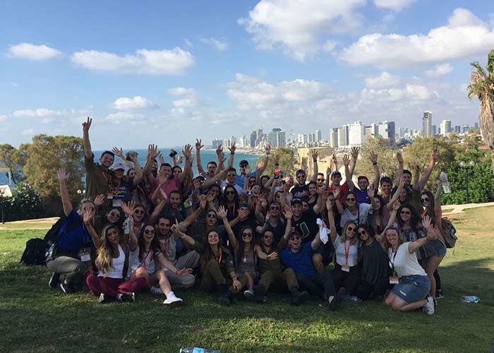 Photo of Birthright Israel group in Jaffa, Israel
