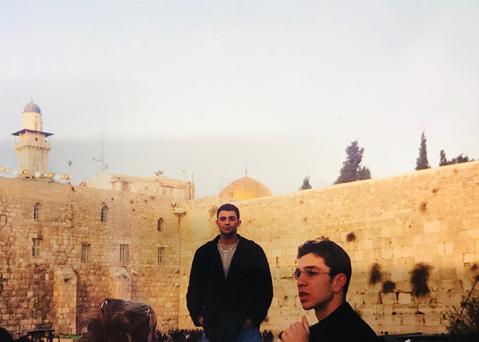 Daniel at the Kotel in 2000