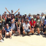 Laura with her Birthright Israel group