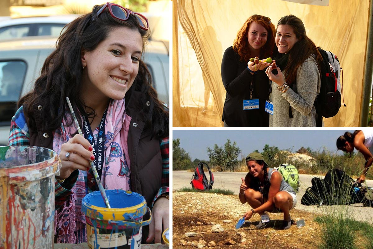 Photos of Rachel on Birthright Israel
