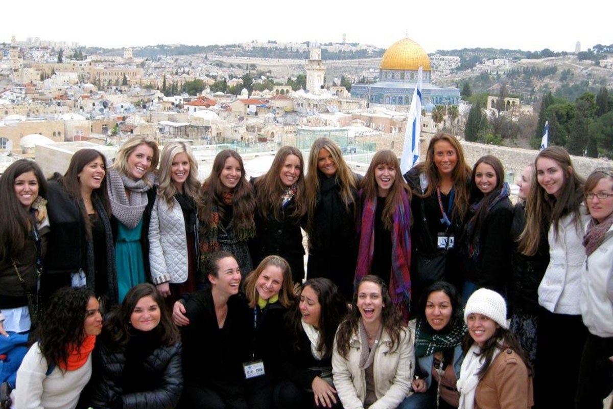 Samantha and her Birthright Israel group