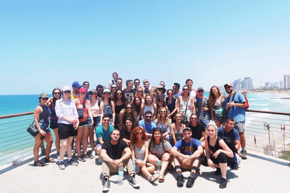 Eve with her Birthright Israel group