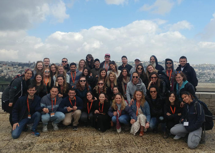 Emily with her Birthright Israel group