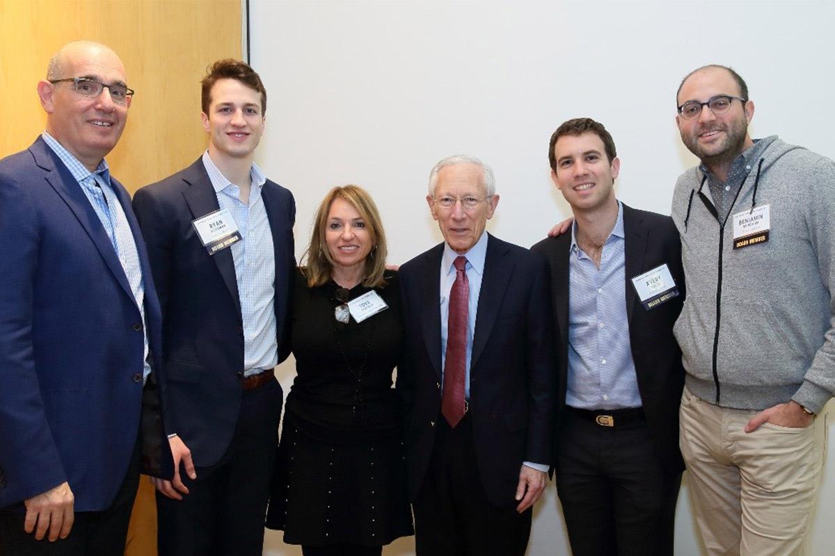 Yoram Tietz, Ryan Eisenman, Tova Dorfman, Stanley Fischer, Avery Rosin, Ben Birnbaum at the Excel 2017 Summit