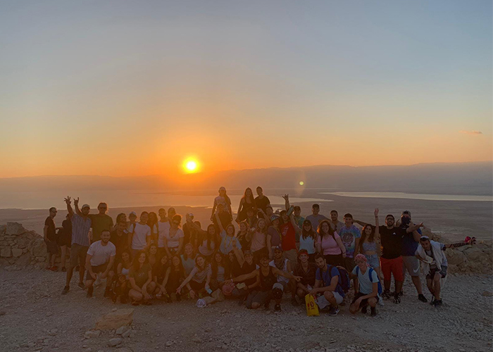 Chloe with her Birthright Israel group