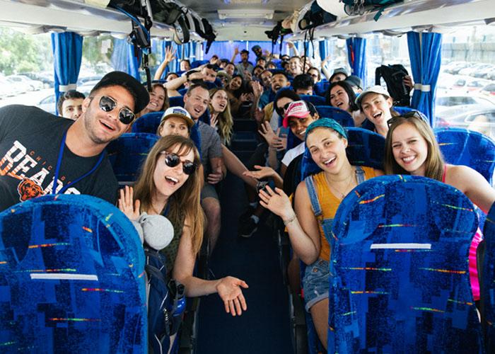 2019 Summer Bus Full of Participants in Haifa