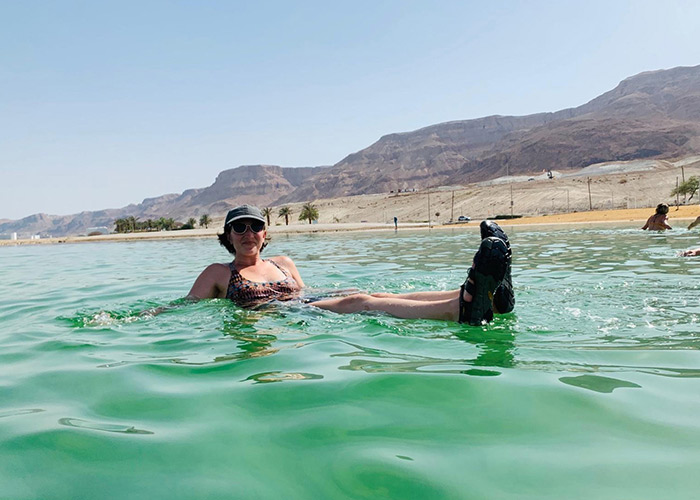 Rachel Kessler in the Dead Sea