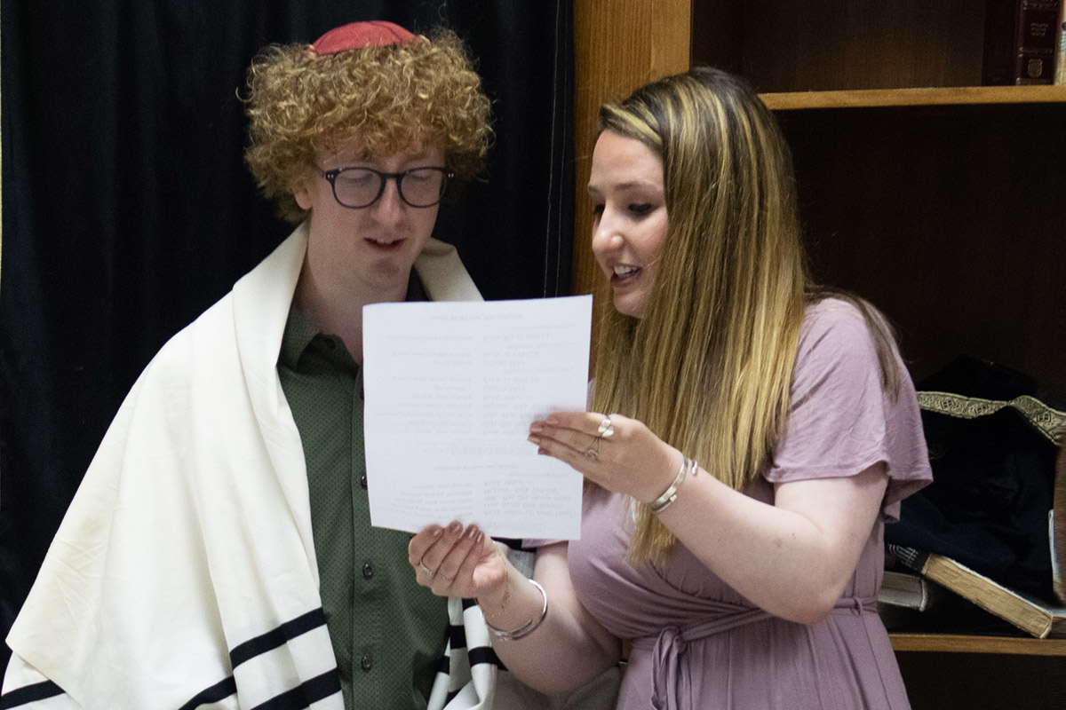 Shira and her participant at the Bar Mitzvah ceremony in Israel.