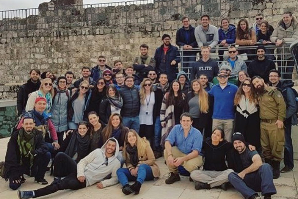 Shelby and Jenna with their group in Jerusalem