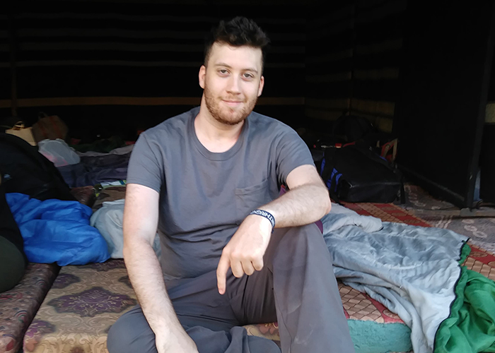 Jacob visiting the Bedouin tents in Israel