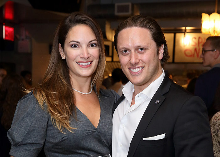 Neil St. Clair with his wife at Birthright Israel Foundation's Young Leadership Event in NYC