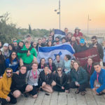 Aidan and his 2020 Birthright Israel group on Mt. Scopus in Jerusalem at sunset