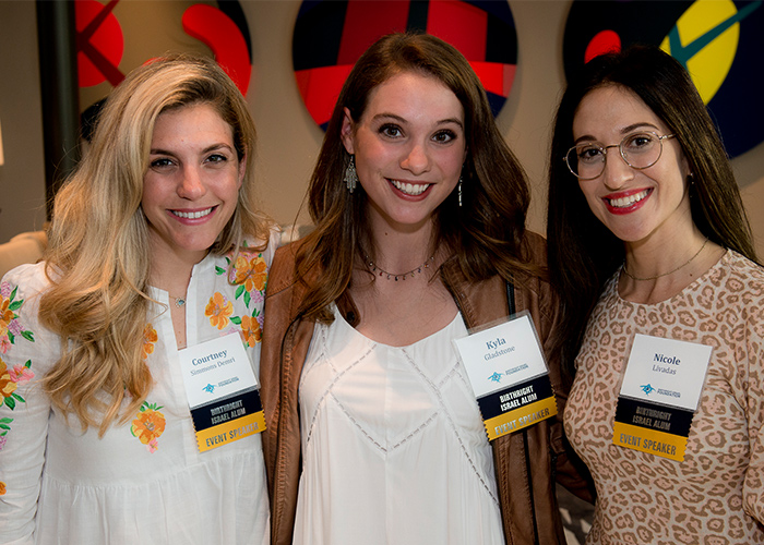Kyla with fellow alumni in Boca Raton
