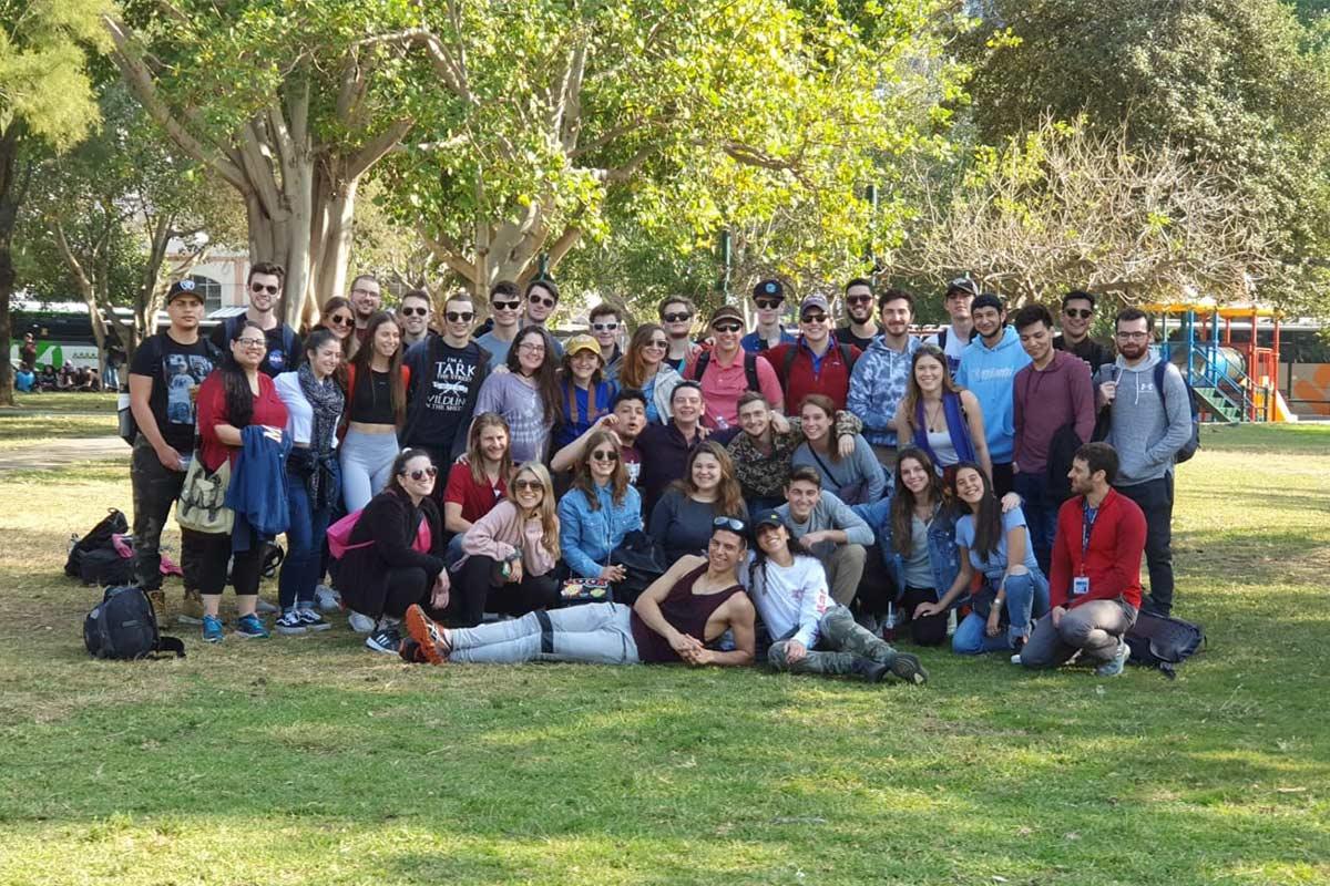 Kyla's Birthright Israel group outside in Jerusalem