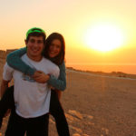 Ruthie & Simon on the top of Masada at sunrise on their 2012 Birthright Israel trip