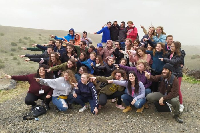 Jamie with her Birthright Israel group
