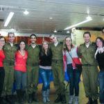Niran and fellow IDF soldiers on Birthright Israel.