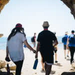 Birthright Israel participants in Caesarea, Israel