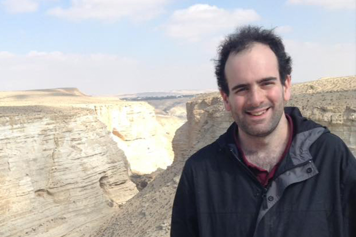 Max Woessner in the Negev
