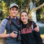 Olivia and her brother on Birthright Israel