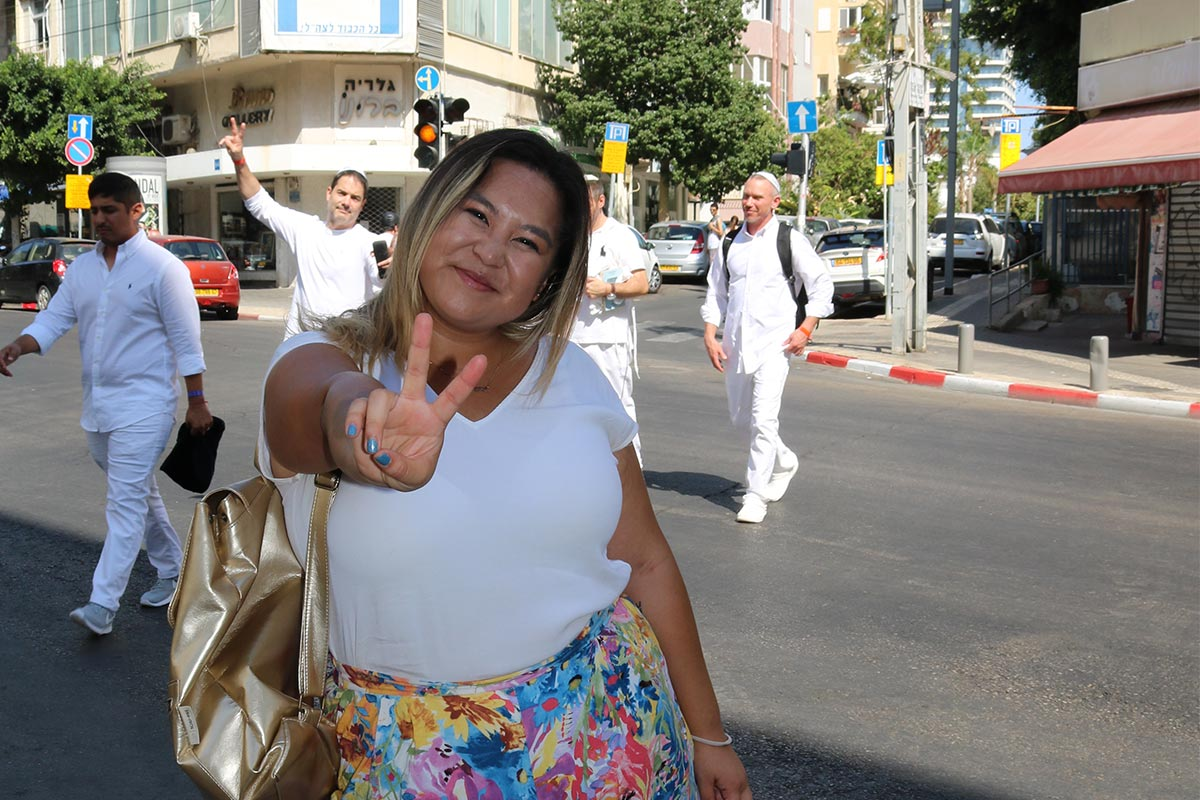 Amy Albertson in Tel Aviv