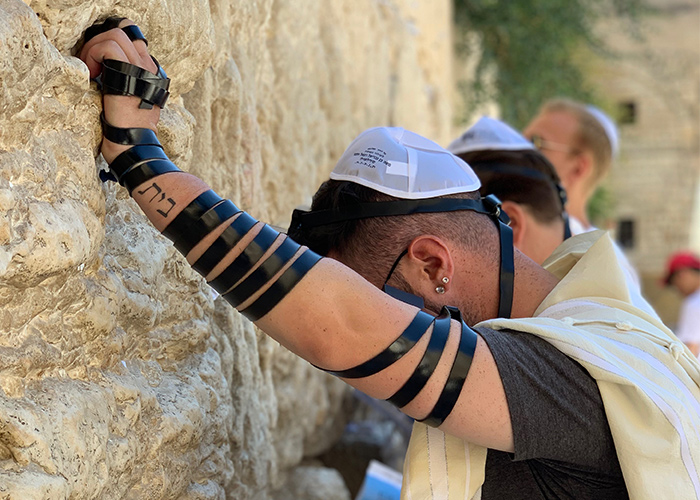 Corey at the Western Wall on his Birthright Israel trip