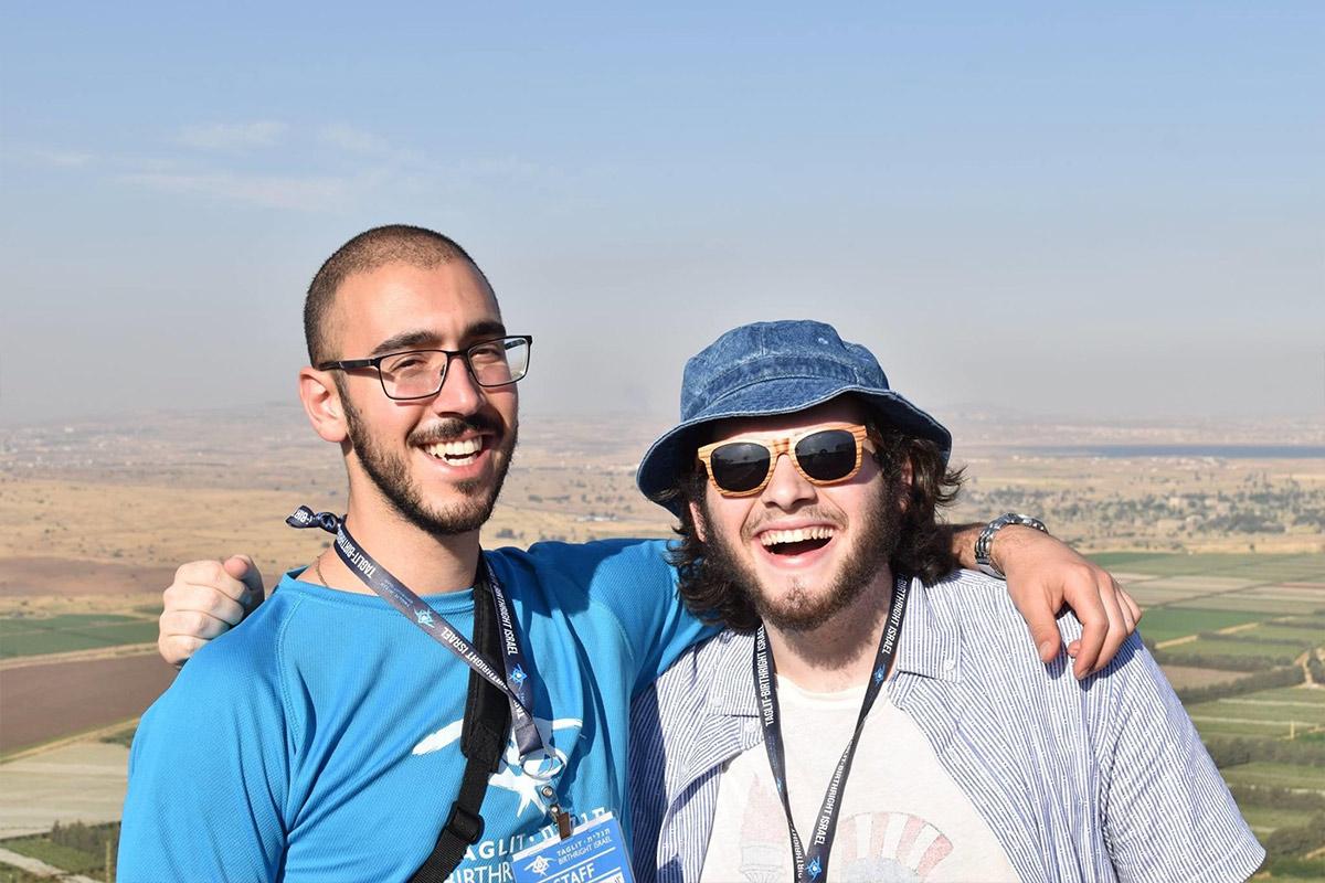 David Ratz with a fellow Birthright Israel participant.