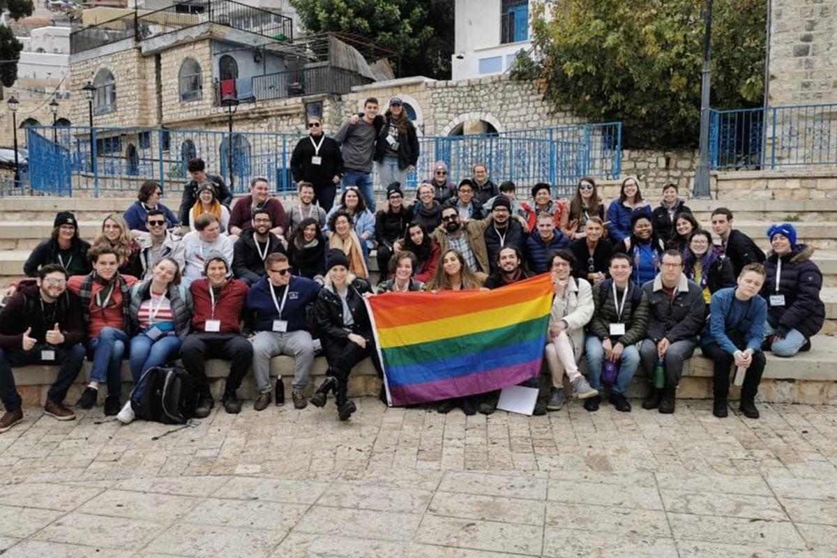 David Ratz as trip staff on an LGBTQ Birthright Israel trip