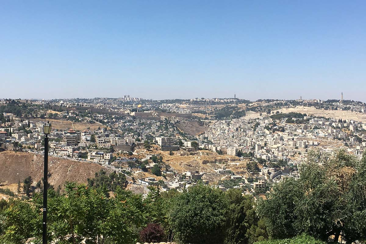 A view from an overlook on Samantha's Birthright Israel trip