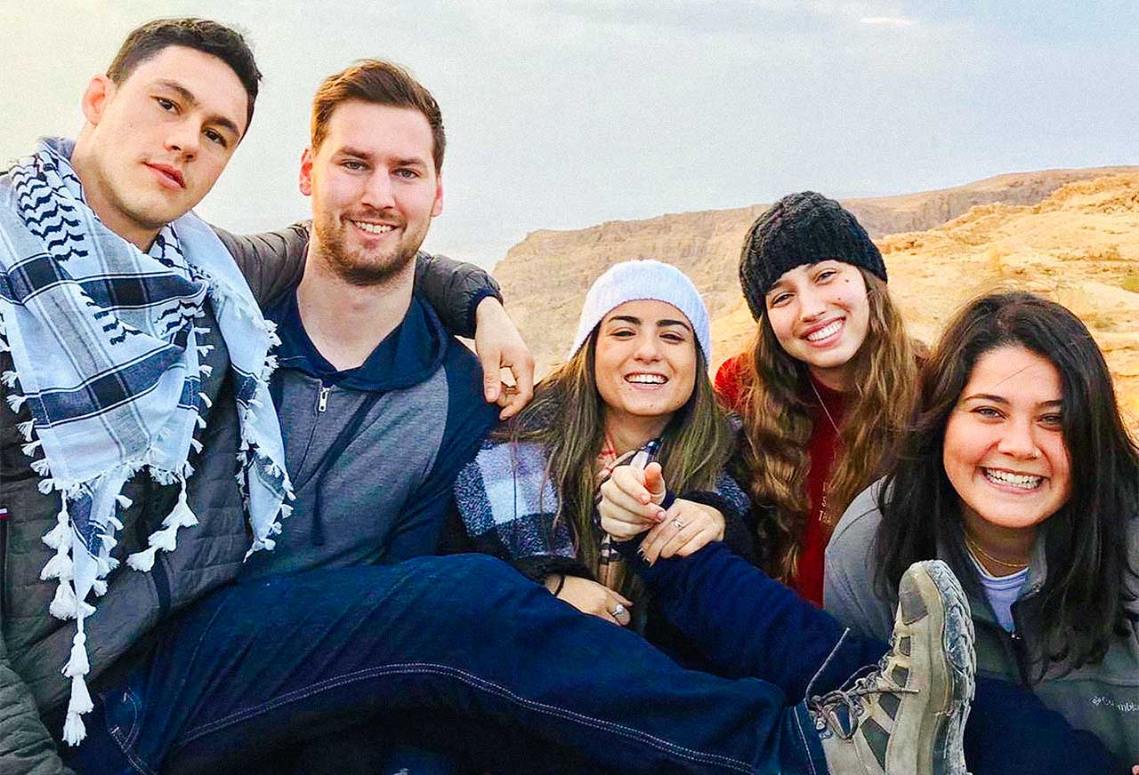 Connor with fellow Birthright Israel participants
