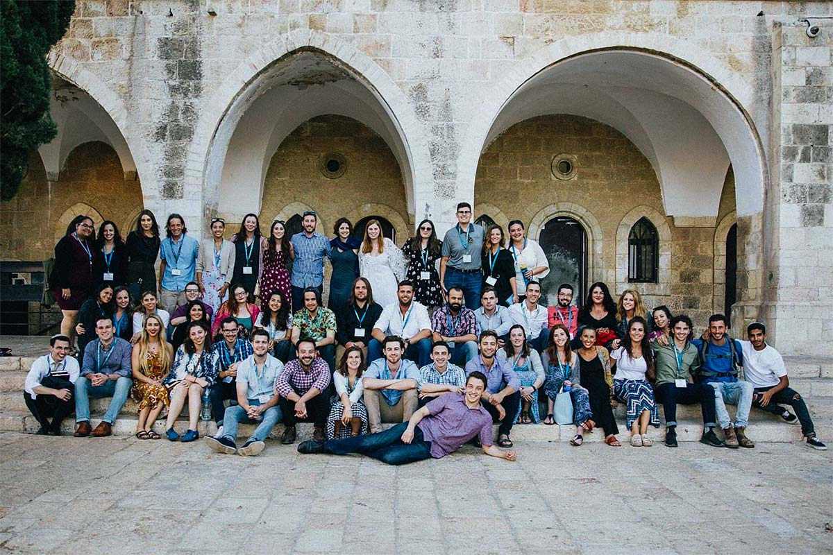 Jennalyn and her Birthright Israel group in Jerusalem