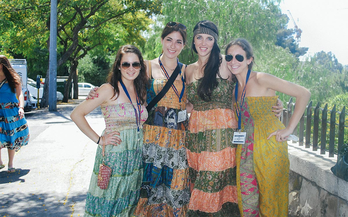 Laura with fellow Birthright Israel participants