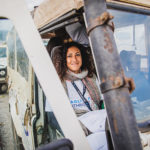 Birthright Israel participant in a bus