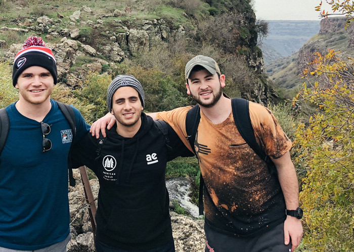 Jared, Sam and Omer on Birthright Israel