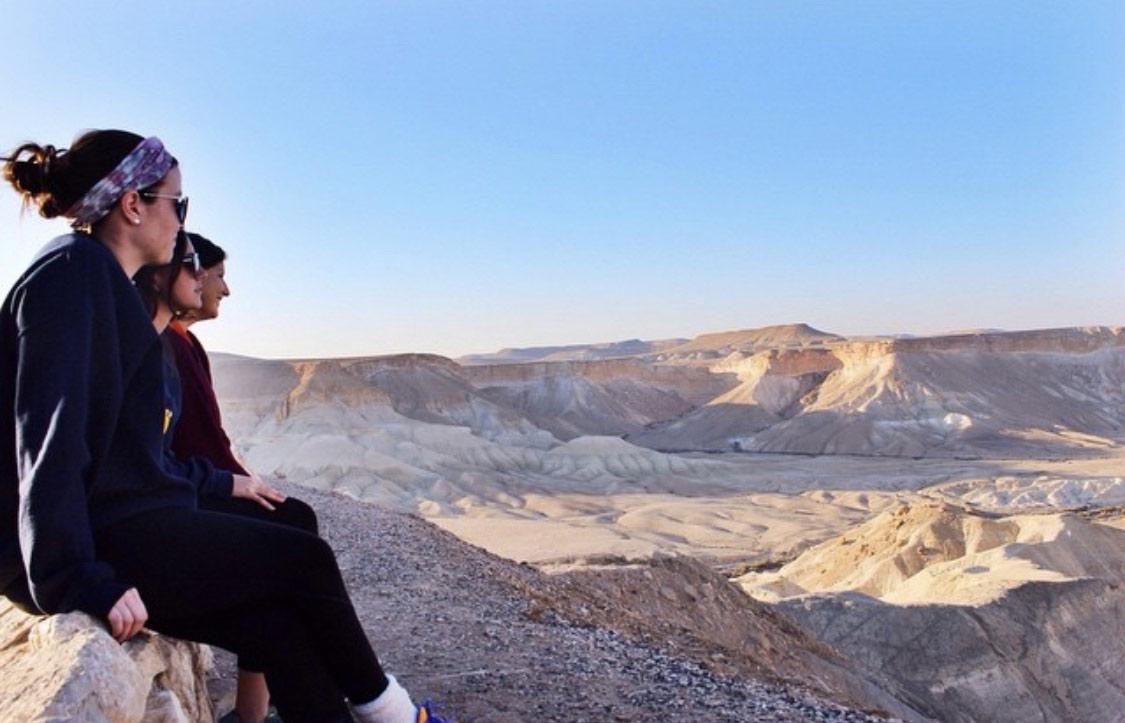 Jordan Shipowitz on top of Masada with her Birthright Israel group in 2014