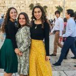 2019 Birthright Israel alumna Sheyna Ryvkin at the Kotel with her group