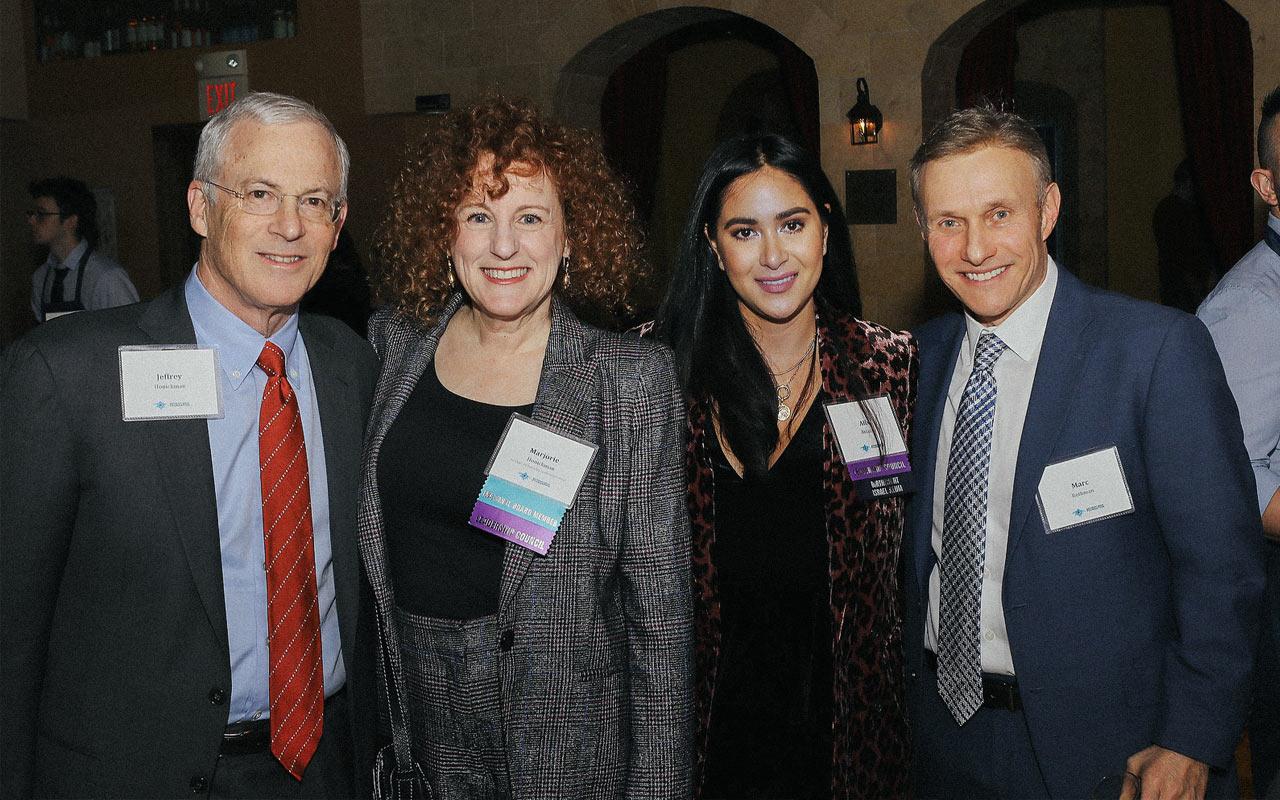 Jeffrey Honickman, Marjorie Honickman, Alix Ablaza, and Marc Rothman at a Philadelphia Birthright Israel event