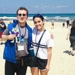 Billy Steinberg on the beach in Tel Aviv on his 2018 Birthright Israel trip