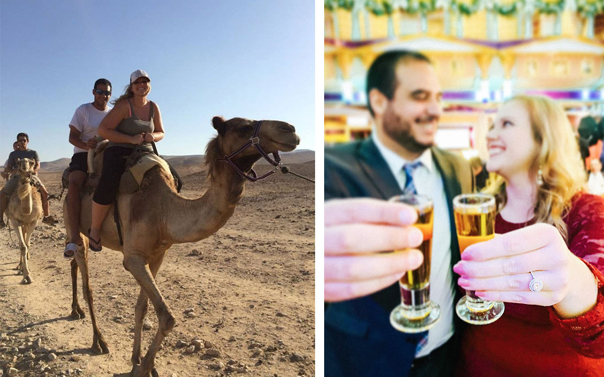 Then & Now: Courtney Barnett & Shahriar Sharifi, from their 2014 Birthright Israel trip to their engagement