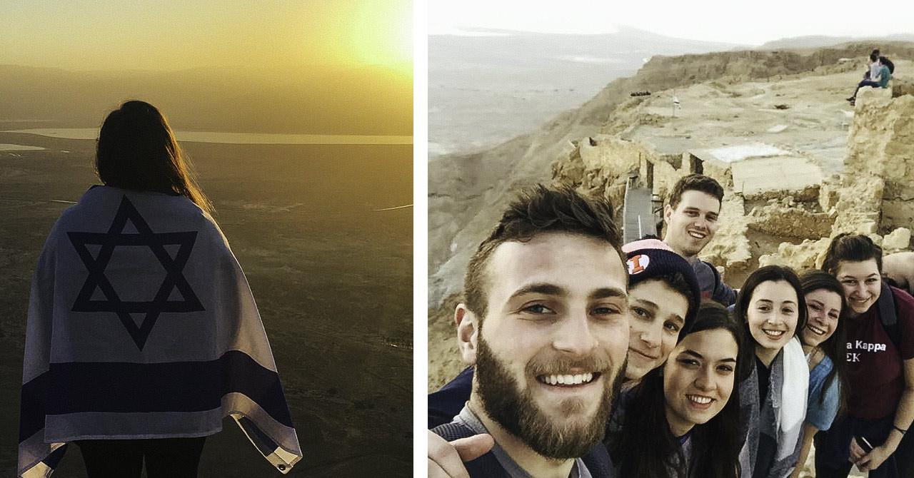 Masada at sunrise with Jordyn Landau and her 2017 Birthright Israel group