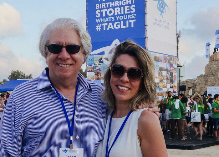 Robert & Kristen Clarfeld at a Birthright Israel Mega Event concert