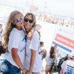 Birthright Israel participants hugging at Mega event