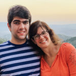 Jonah Geer with his mother on his Birthright Israel accessibility trip