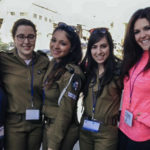 Abby Taub with Mifgash from her Birthright Israel group in 2015